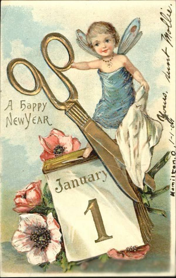 Bonne Anne 2015 Happy New Year Vintage Happy New