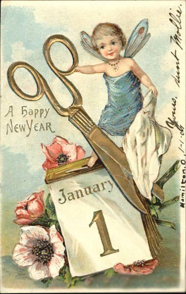 Bonne Anne 2015 Happy New Year Vintage Happy New