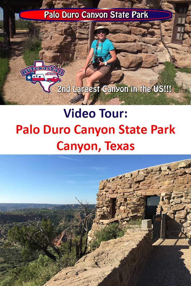 Video tour of Palo Duro Canyon State Park in Canyon, Texas. We take you through the 2nd largest state park in Texas to see the campgrounds, wildlife, trails, and CCC structures. Watch the video and other similar ones about great places to visit in Texas on our YouTube Channel! https://www.youtube.com/RVTexasYall