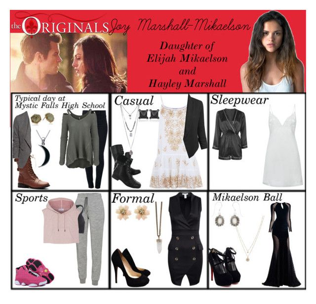 """""""Joy Marshall-Mikaelson. Daughter of Hayley Marshall and Elijah Mikaelson (The Orignals)"""" by elmoakepoke ❤ liked on Polyvore featuring Juliet Dunn, STELLA McCARTNEY, Free People, LE3NO, H&M, Hush Puppies, Jimmy Choo, Icebreaker, Wet Seal and adidas"""