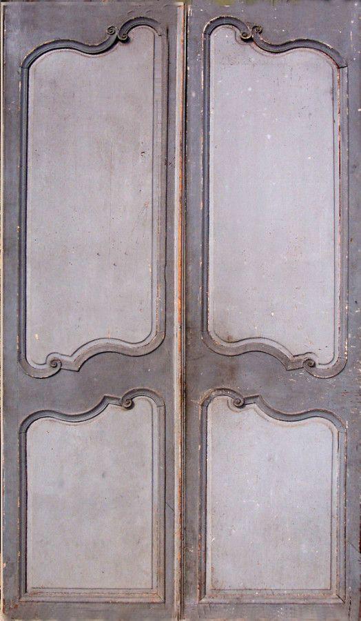 Portes doudle Louis XV Patine peinture 18ième siecles. Portes intérieures . Portes Antiques - fabricant restauration et création