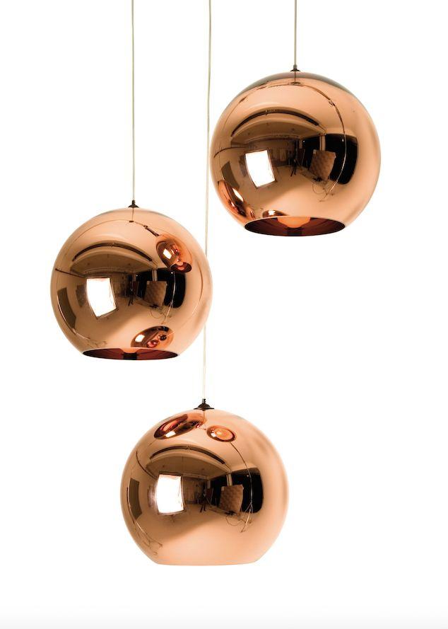 suspension en cuivre Copper Shade 25 cm de Tom Dixon - Superstore.fr -