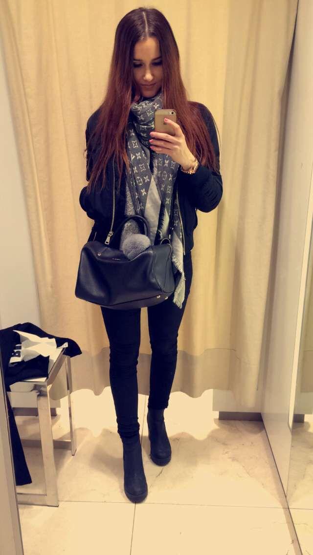 Lv scarf bomber jacket