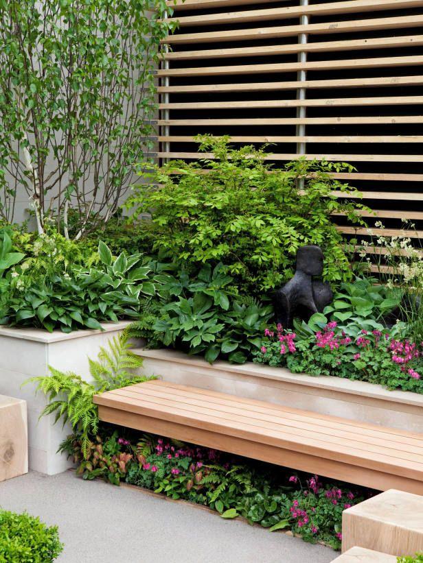 Plant Shade Loving Perennials Under Garden Bench This