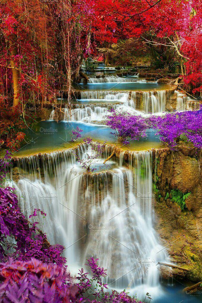 Pin By William Blair On Bills Beautiful Waterfalls Waterfall Beautiful Nature Wallpaper