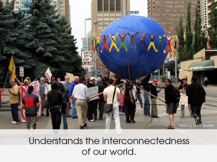 Calgary Centre for Global Community provides education, engagement and research opportunities to enhance and expand Calgarians' capacity for responsible, well-informed, effective global citizenship....