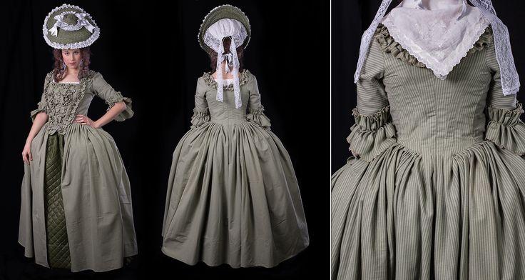 "1750-1780 ""Robe à la anglaise"" by medievaldesign.com"