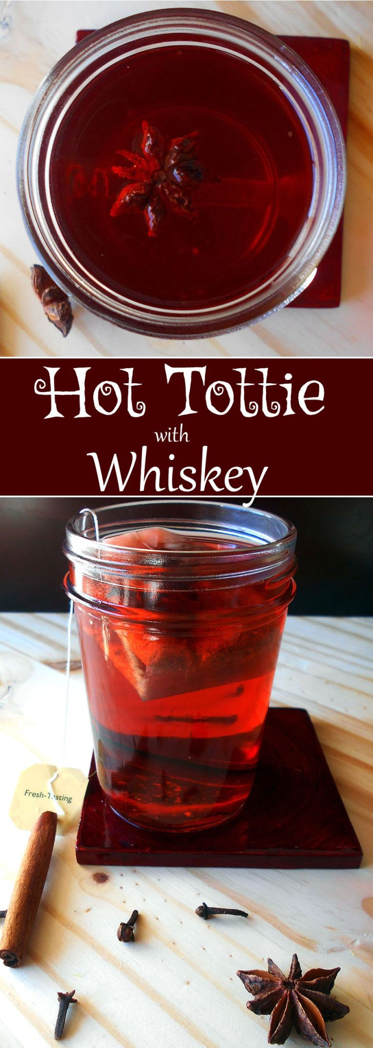 A soothing medicine for Grownups - Made with scotch whiskey, star anise, cloves and cinnamon, it is the most powerful cold and flu fighter. Get a good night's rest and sooth your insides with this hot tottie recipe.