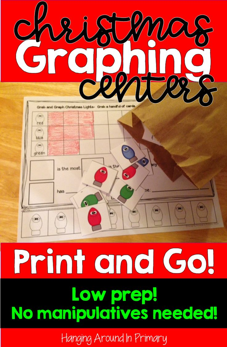 Save time during the holidays and practice graphing skills with this low prep, print and go Christmas themed Graphing center.