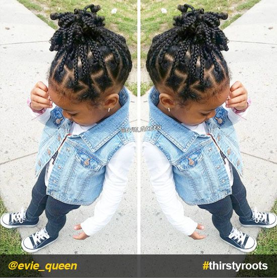 From pony puffs to decked out cornrow designs to braided styles, natural hairstyles for little girls can be the cutest added bonus to their precious little faces.