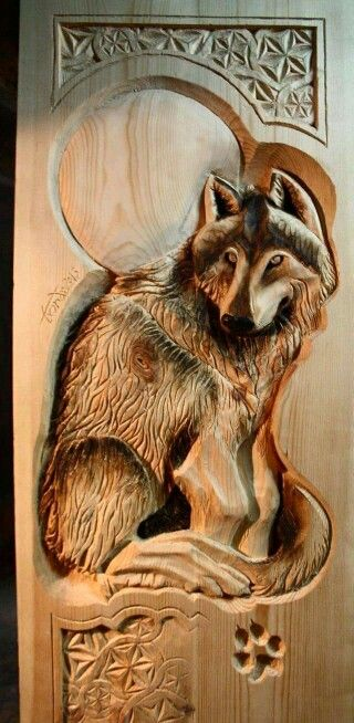 Beautiful wolf  working with wood pinterest