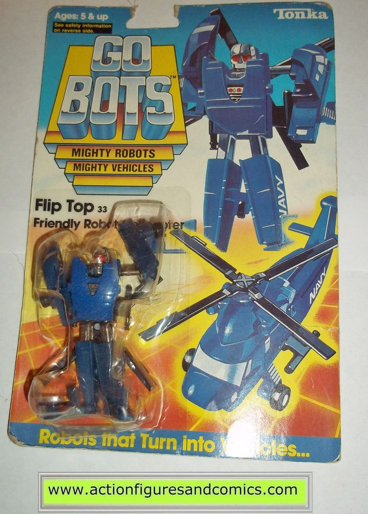 gobots FLIP TOP mr-33 helicopter tonka ban dai toys action figures moc mip mib vintage transformers