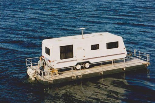 "RVing + Boating = the ultimate recreational vehicle. 19 RV owners decided they wanted more out of their RV so they turned their RV into a boat. Well all except #5, they just had a little accident. #1 The Ultimate Redneck Boater Home Check out the next RV we call it ""The Blue House On [Continue Reading]"