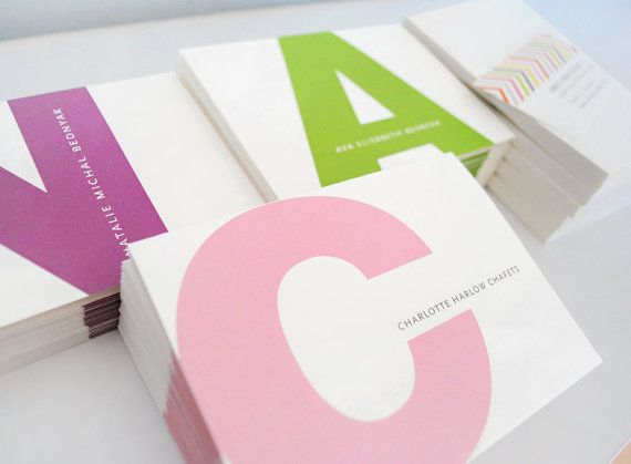 Personalized kids stationery initial stationery by AlmostSundayInc, $20.00  - for thank you notes!