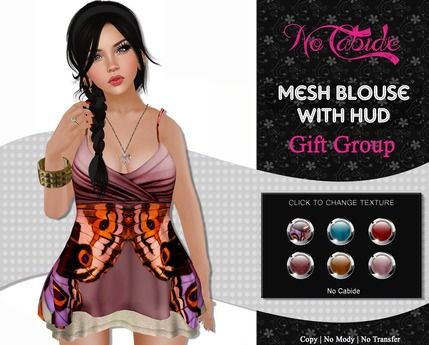 :: No Cabide :: Mesh Blouse_ 6 Textures - HUD - Gift group
