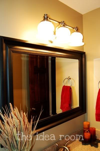 Bathroom Re Do Black Framed MirrorBathroom