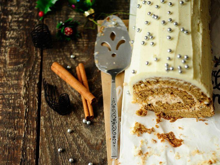 Découvrez la recette de la bûche chocolat blanc spéculoos