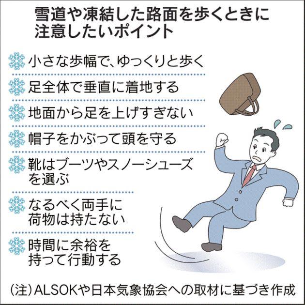 東京都心で大雪、転ばないための歩き方  :日本経済新聞
