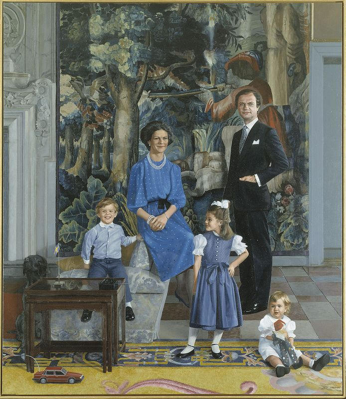 Franzen, John Erik (1942- ) - 1984-85 King Carl XVI Gusfaf with Family (Gripsholm Castle, Sweden)