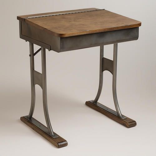 One of my favorite discoveries at WorldMarket.com: Gunmetal Schoolhouse Desk