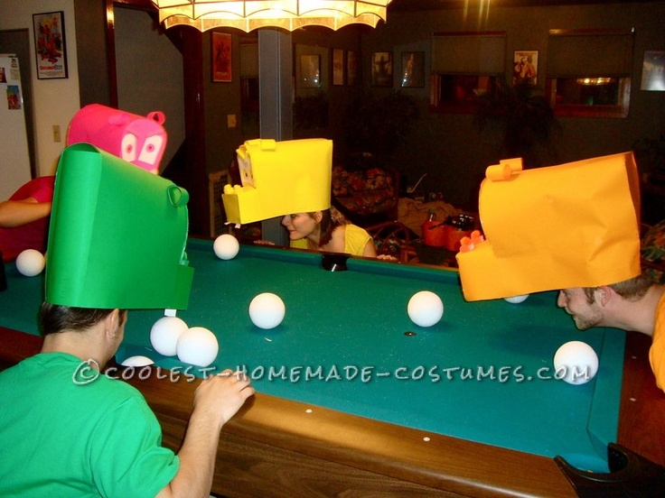 awesome hungry hungry hippos group costume - Halloween Games For Groups