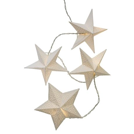 Paper Stars String Lights 10 Lights