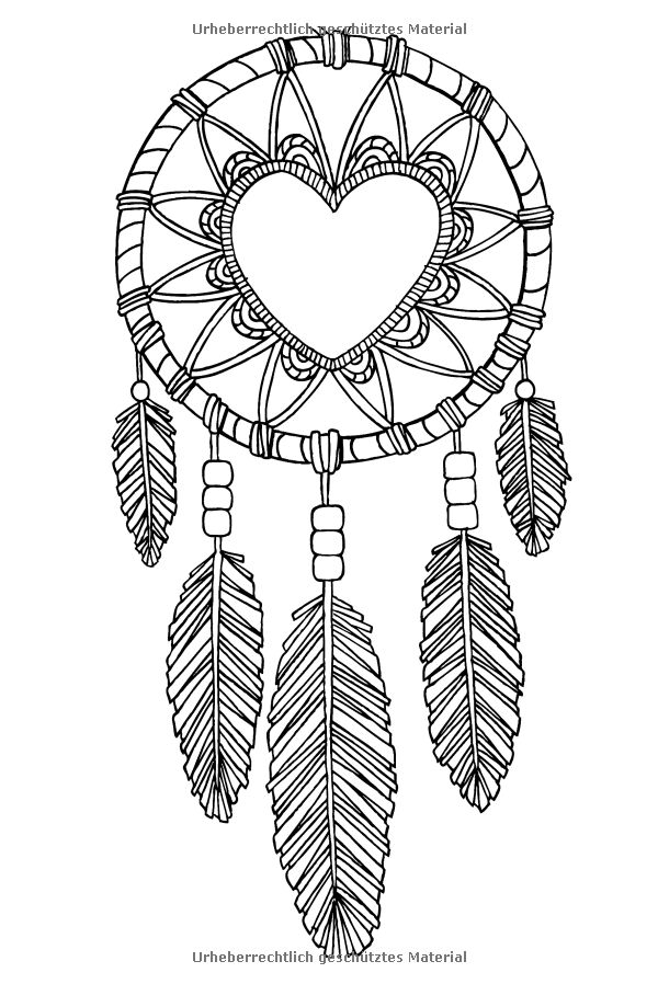 detailed dream catcher coloring pages - photo#15