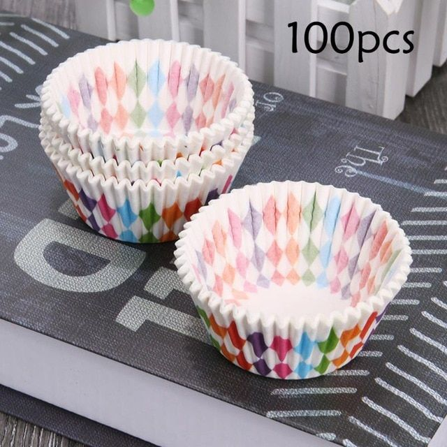 100pcs Colorful Paper Cupcake Liner Baking Cups Cup Cake Mold