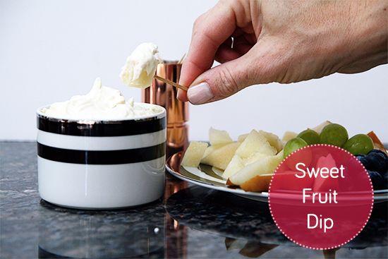 Sweet Fruit Dip. Super simple via RemarkablyDomestic.com
