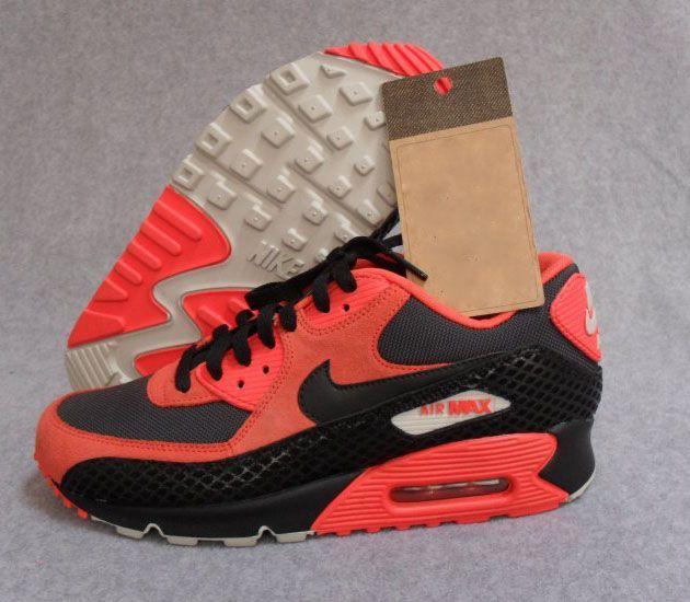 Nike Air Max 90 Premium Team Orange / Black - Anthracite #sneakers #kicks   WALKING/RUNNING SHOES..   Pinterest   Nike, Nike shoes and Nike air