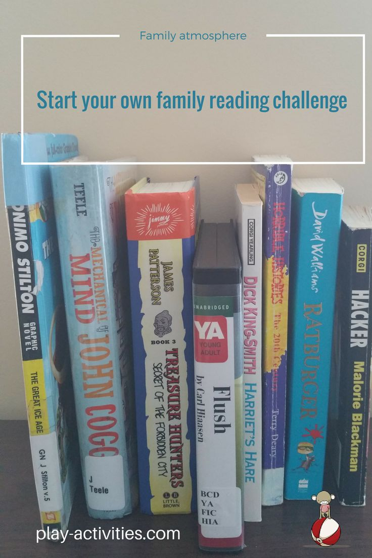 Have some reading fun with a family reading challenge. Start a new tradition