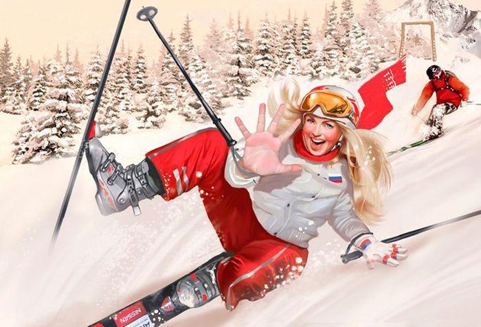 Доставка москве, лыжницы картинки смешные