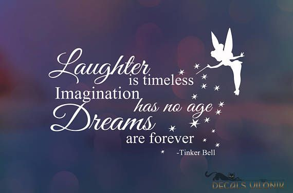 DISNEY TINKER BELL Fairy Decal Stardust Positive Saying