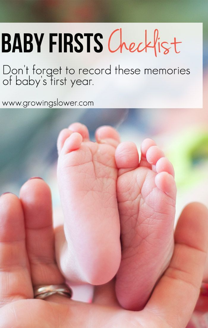 37 Memories and Milestones of Baby's First Year. Don't forget to record these for the baby book!
