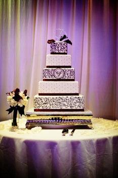Wedding, Cake, Purple - like the silver stand
