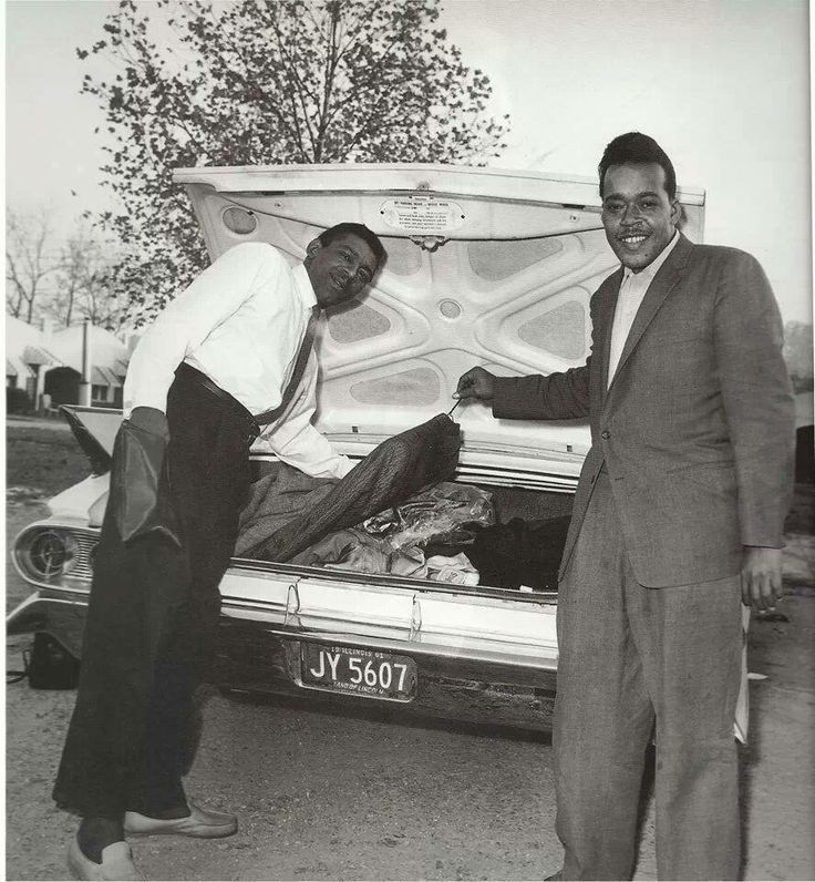 Little Walter and James Cotton.  Photo by Ernest Withers.
