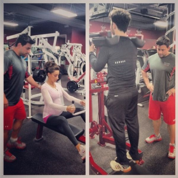 @Danielle Jonas Couples that train together stay together also their sore together @Abby Duffy @anthonycpt27 and @Cupps27 sicPhoto: Instagram