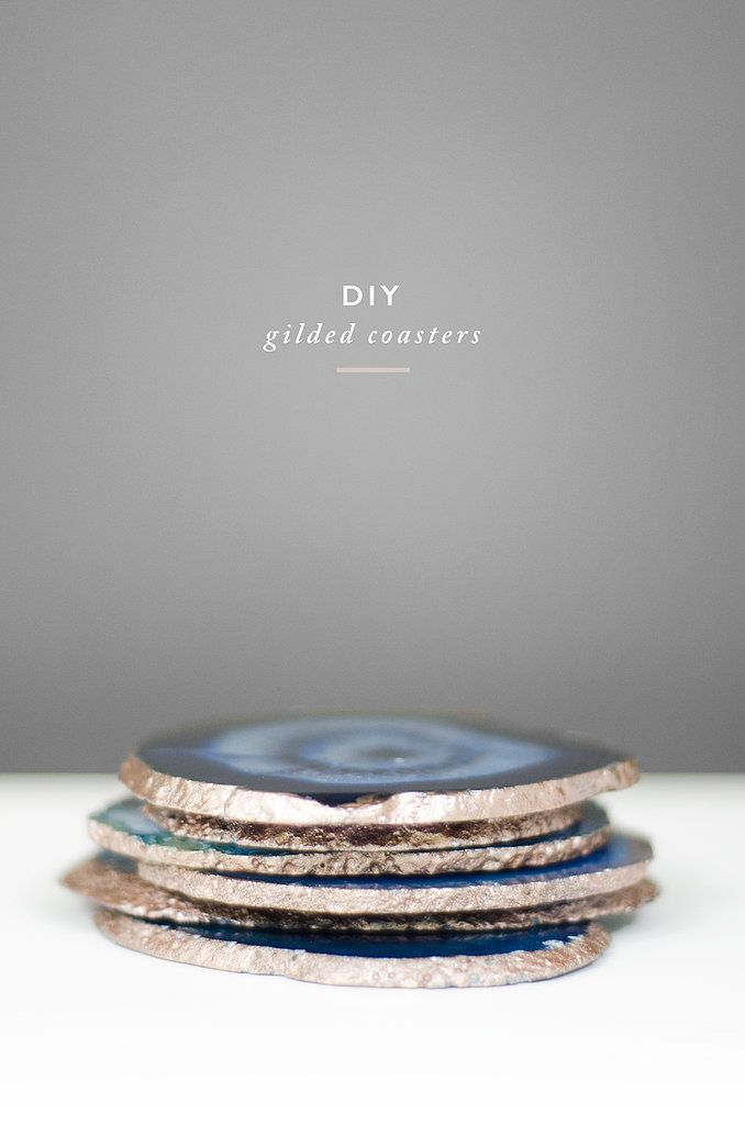 Make Your Own Gilded Agate Coasters