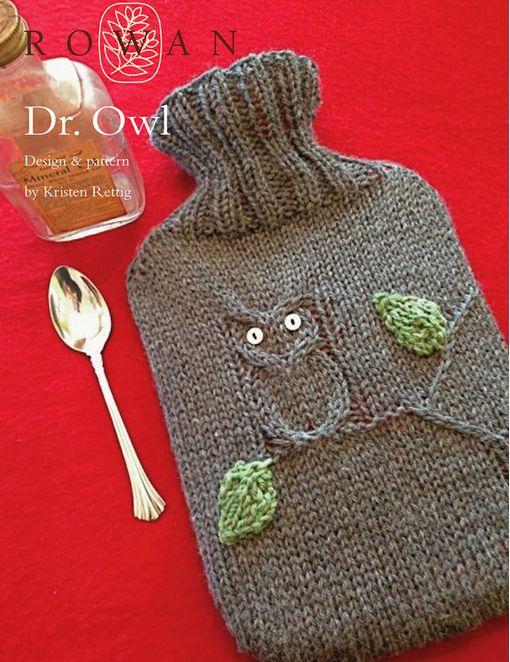 FREE ROWAN PATTERN: Dr. Owl by Kristen Rettig, made with Rowan Pure Wool Worsted.