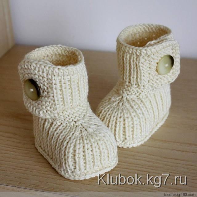 Ботинки-пинетки. Мастер- класс | Клубок