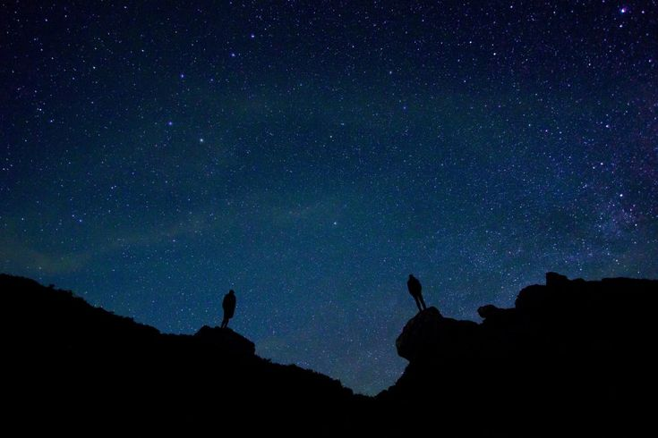 Download this free photo here www.picmelon.com #freestockphoto #freephoto #freebie /// People under the Starry Sky | picmelon