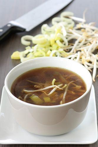 veggy soy leek soup