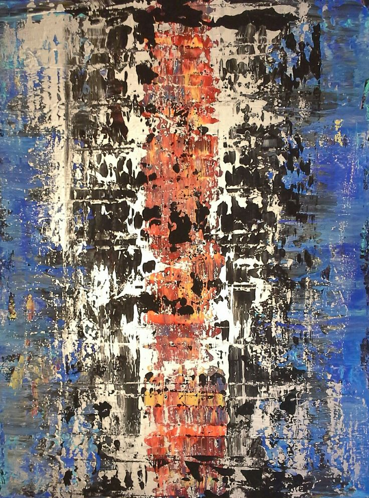 Robert Martin Abstracts. Title: Abyss in acrylic on canvas 30x40x1.5 inches. Vancouver Island collection 2017 by Robert Martin Abstracts