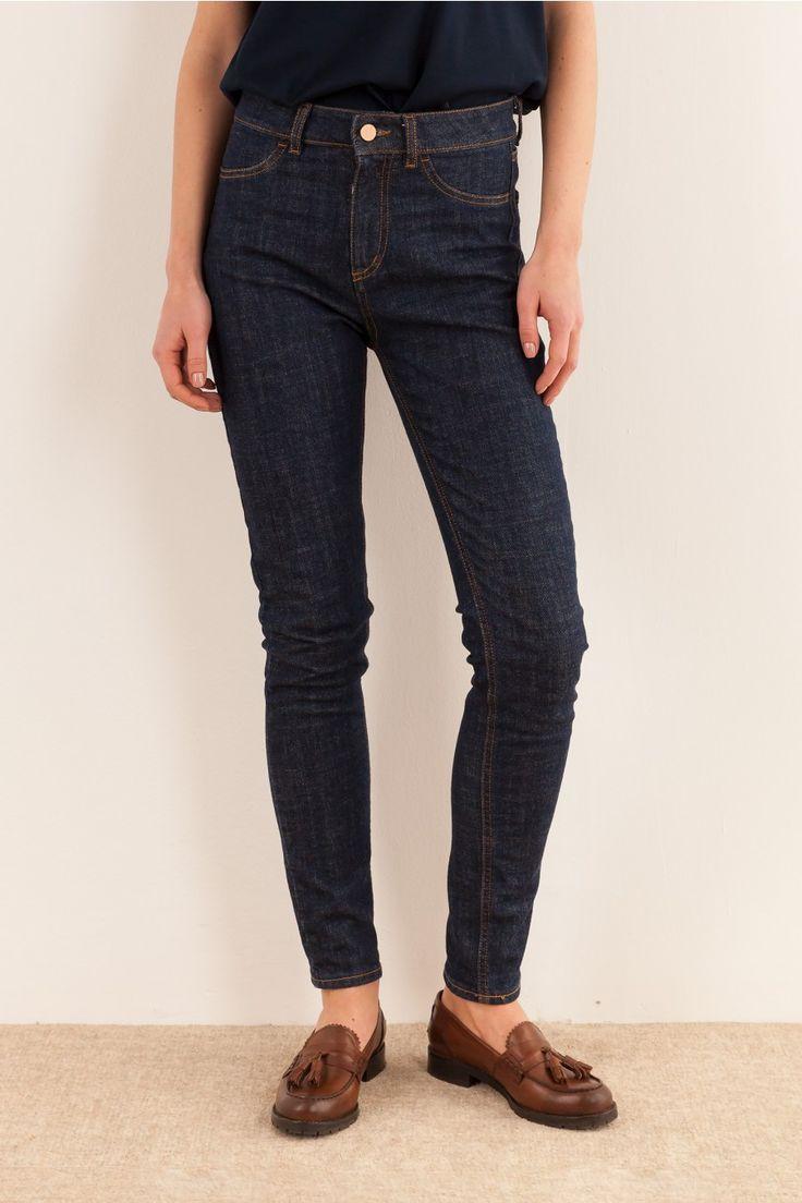 Jeans Blu scuro Abbigliamento Donna Made in Italy