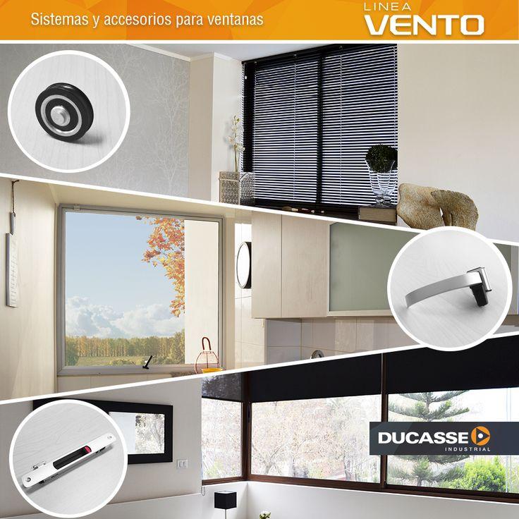 Línea Vento, una gama de productos y accesorios ideales para el cierre de tus ventanas. Conoce mas en www.ducasseindustrial.com #ventana #vidrio #glass #ducasseindustrial
