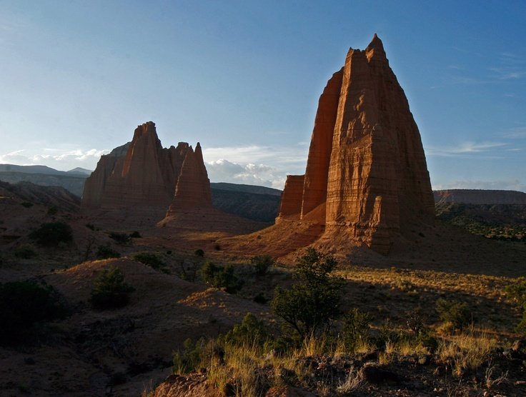 Sunset in Cathedral Valley