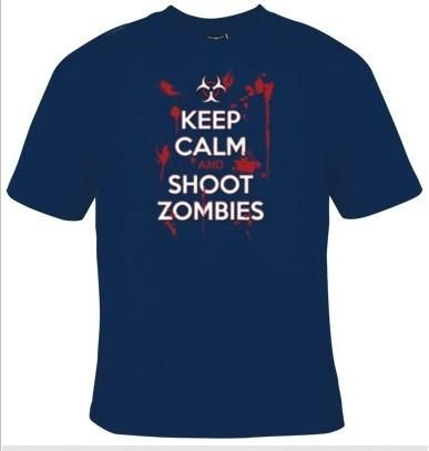 Keep Calm And Shoot Zombies T-Shirt Men's