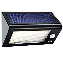 amir solar lights outdoor 24 led motion sensor wall lights 4 modes wireless garden