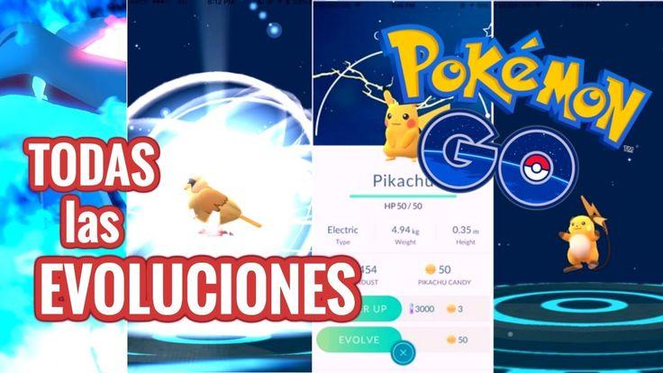 TODAS las EVOLUCIONES de POKEMON GO!!! +1500CP?? segun la POKEDEX - Poke...