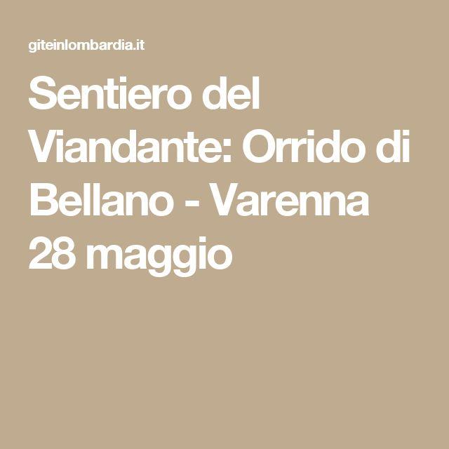 Sentiero del Viandante: Orrido di Bellano - Varenna 28 maggio